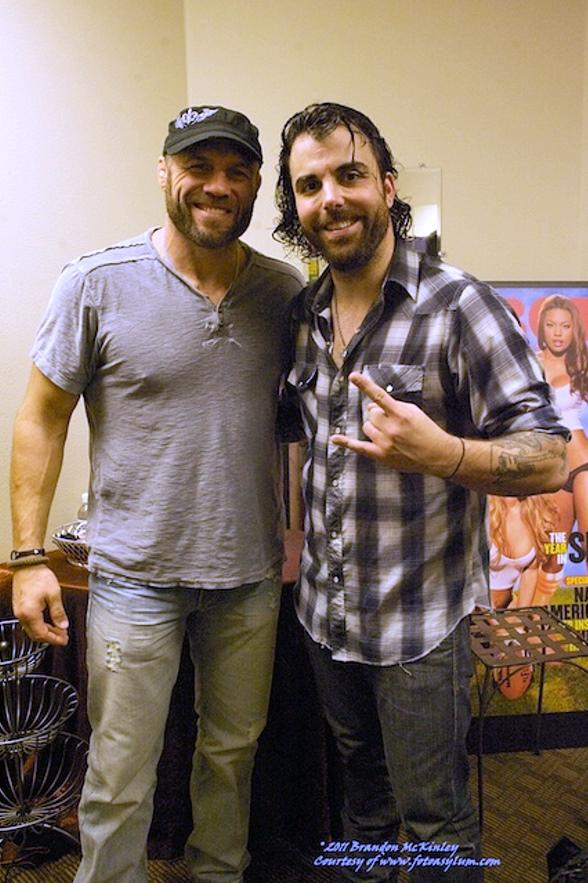 MMA Legend Randy Couture and Musician Franky Perez
