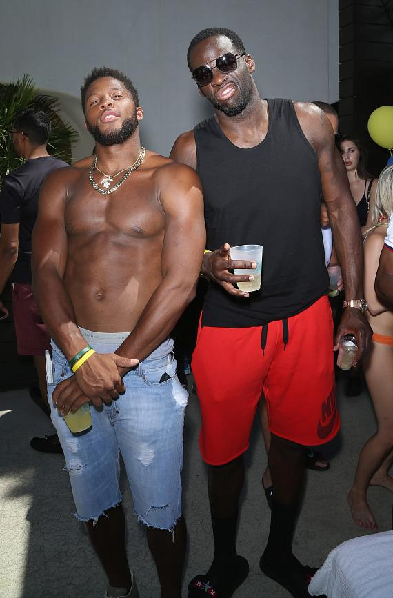 Draymond Green and Bennie Fowler at LIQUID