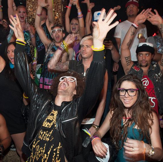 LMFAO and Party Rock Crew at TAO