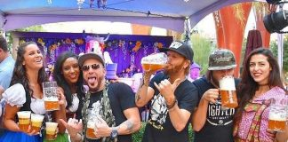 Country stars LoCash celebrate at a previous year's Oktoberfest