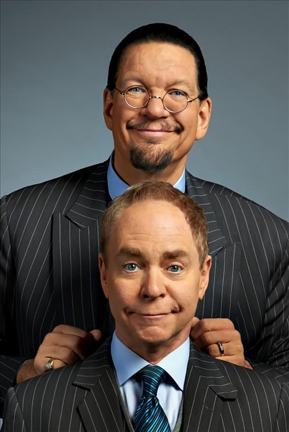 Penn & Teller, Carrot Top, George Wallace and Play in 4th Annual TournEvent for Charities Slot Tournament at 2017 Global Gaming Expo in Las Vegas