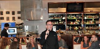 Chef Rick Moonen speaking to LVHA membership at RM Seafood Restaurant at Mandalay Bay