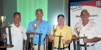LVHA Golf Tourney Winning Team Tim Haney, Mark Haley, Vince Alberta & Brad Rogers