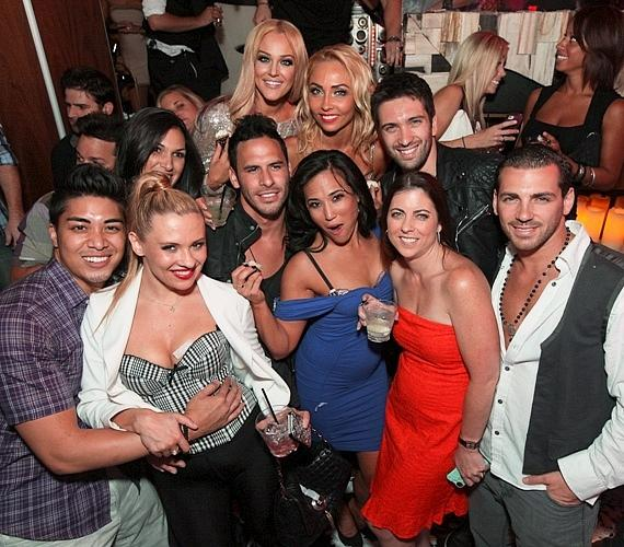 Lacey Schwimmer celebrates 24th birthday at Hyde Bellagio with friends