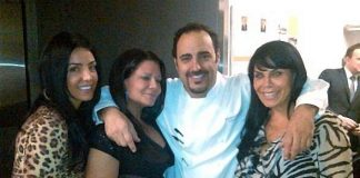 Chef Barry Dakake with the Mob Wives