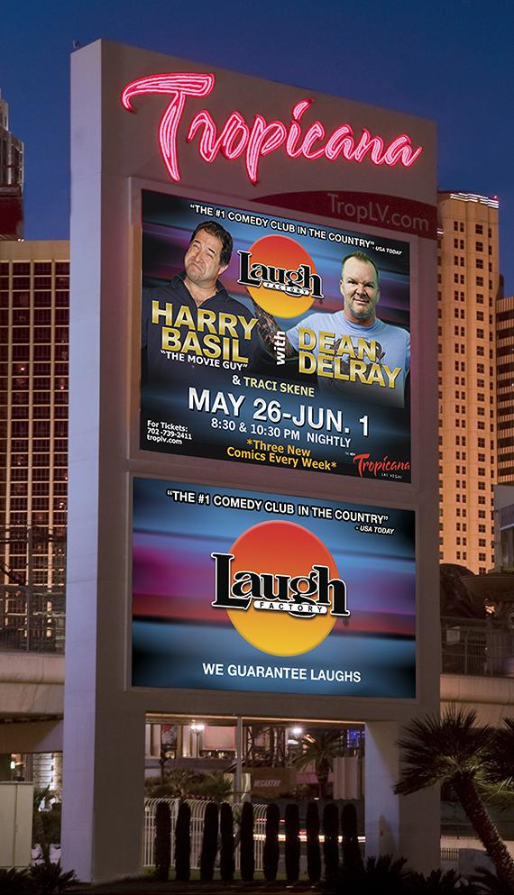 Laugh Factory starring Harry Basil, Dean Delray and Traci Skene May 26-June 1