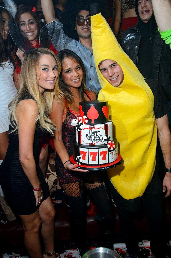 Lauren Conrad & Brandon Conrad with Birthday Cake at TAO