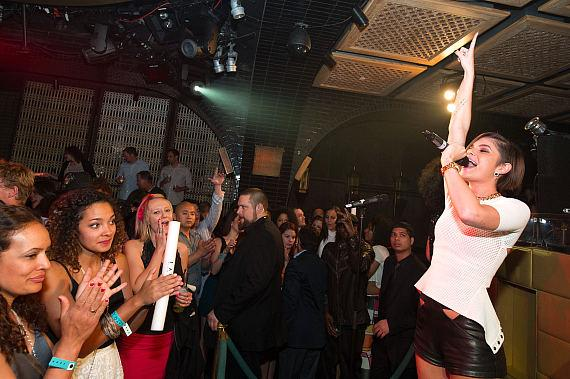 R&B Artist Leah Labelle performs at LAVO