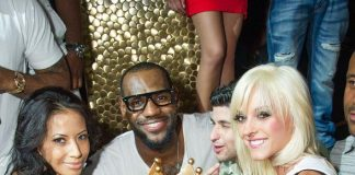 Lebron James at TAO with cake
