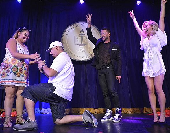 "Jai Rodriguez and Kendra Wilkinson Assist in Surprise Marriage Proposal at ""Sex Tips for Straight Women from a Gay Man"""