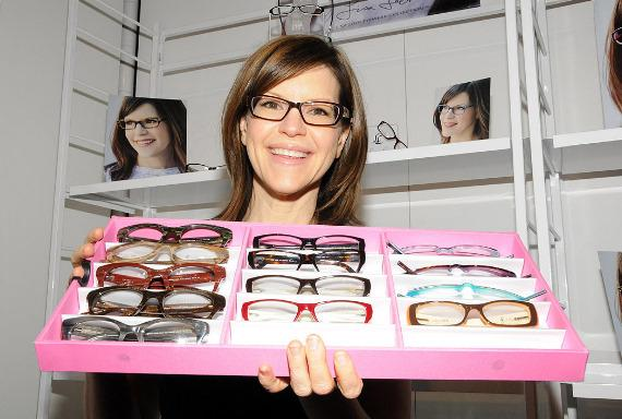 Singer Lisa Loeb Appears at Classique Eyewear Booth at Vision Expo West