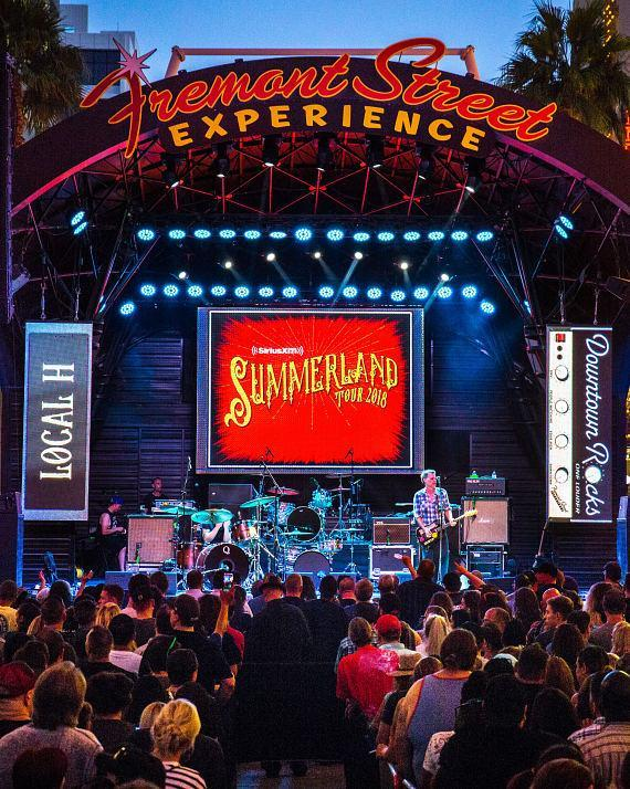 Local H performs during Downtown Rocks on Fremont Street Experience