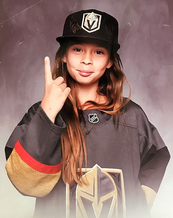 """Golden Knights 10-yr old Superfan, Logan """"The Girl with the Hat,"""" Set to Ride the Zamboni at T-Mobile Arena for Game 5"""
