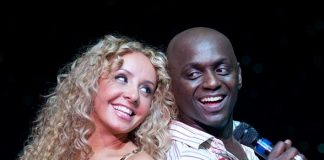 FANTASY headliner Lorena Peril and comedian Sean E. Cooper
