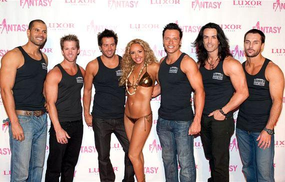FANTASY cast with Carrot Top