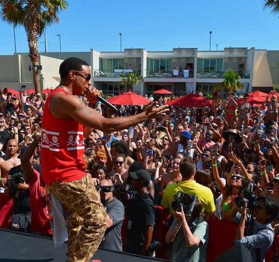 Ludacris performs for thousands of fans at Palms Pool.