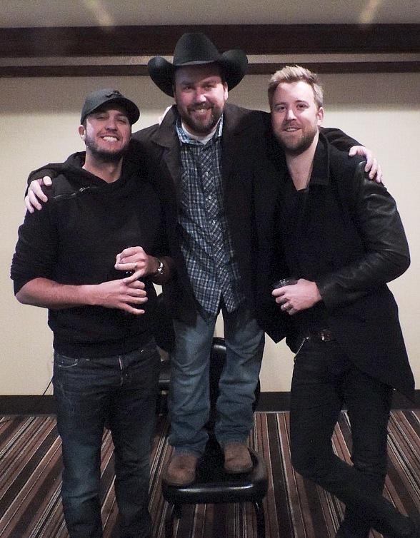 Luke Bryan and Charles Kelly Surprise Comedian Rodney Carrington at MGM Grand in Las Vegas