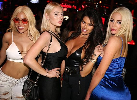 Luna Starr, Friend, Toochi Kash and Nicolette Shea at Crazy Horse III