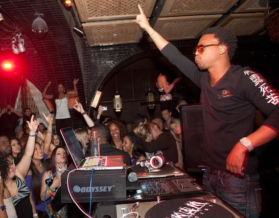 Lupe Fiasco DJs at LAVO