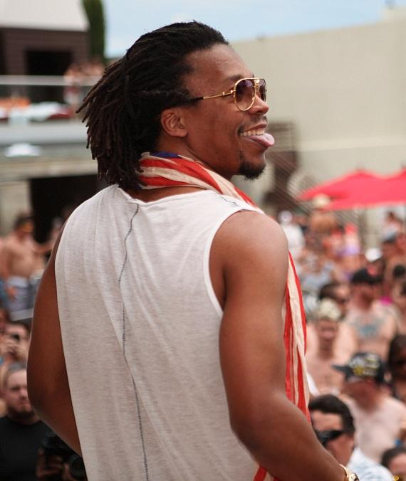 """Lupe Fiasco smiles as crowd chants his name at """"Ditch Fridays."""""""