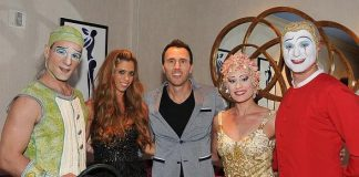 """Bravo's Real Housewife of Orange County Lydia Celebrate's Hubby's Birthday at """"O"""" by Cirque du Soleil"""