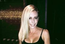 Reality TV Star and Former Playboy Playmate Kendra Wilkinson Dines at MB Steak in Las Vegas