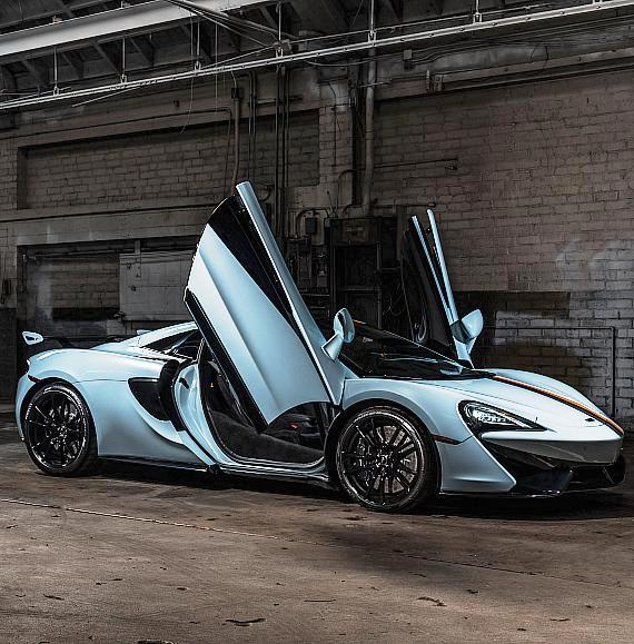 McLaren 570S Spider auction items raised $310,000 for One Drap