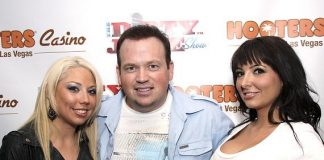 Tiffany Koepp, Nathan Burton and Valerie (Hooters Girl)