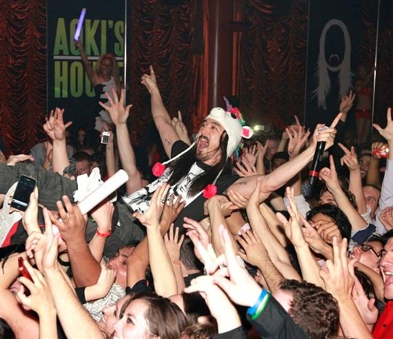 Steve Aoki dives into the audience