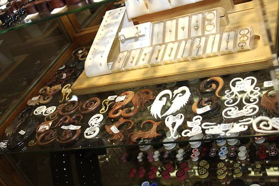 Selection of items at Sleepy Lagoon Tattoo Parlor and Piercing
