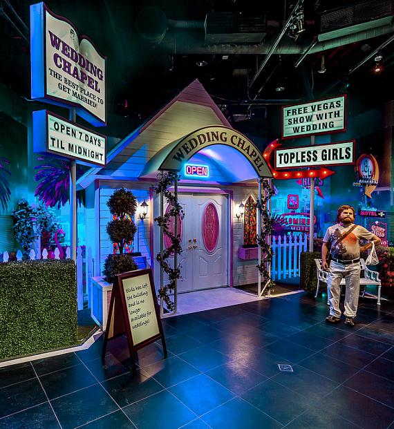 """Wedding chapel inspired by """"The Hangover"""" at Madame Tussauds Wax Museum"""