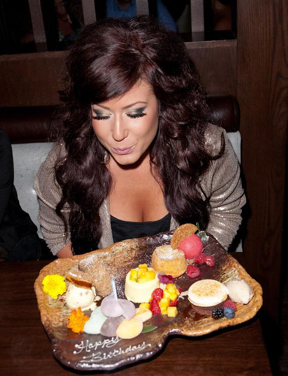Chelsea Houska blows out the candle at Social House Las Vegas