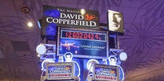 """Illusionist David Copperfield Unveils """"The Magic of David Copperfield"""" Slot Machine at MGM Grand in Las Vegas"""