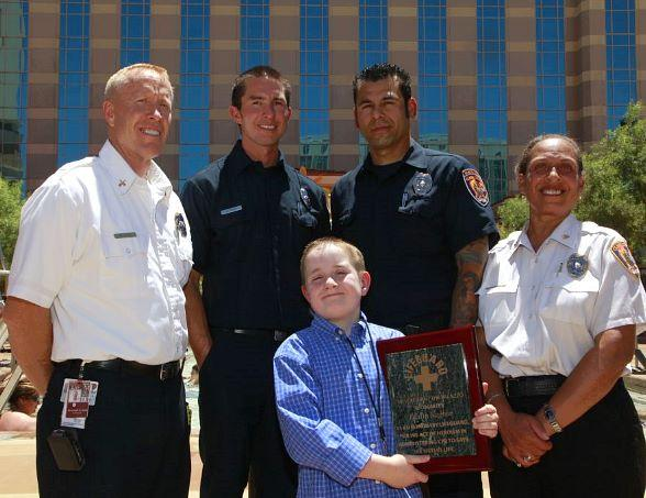 Tristin Saghin with Clark County Fire Department