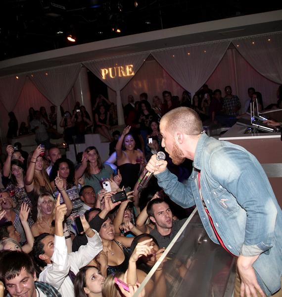 Mike Posner Performs at PURE Nightclub
