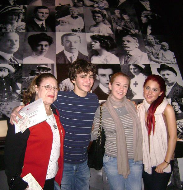 Teen Actress Ariana Grande at Titanic: The Artifact Exhibition and BODIES...The Exhibition