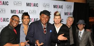 George Wallace with cast of MO5AIC