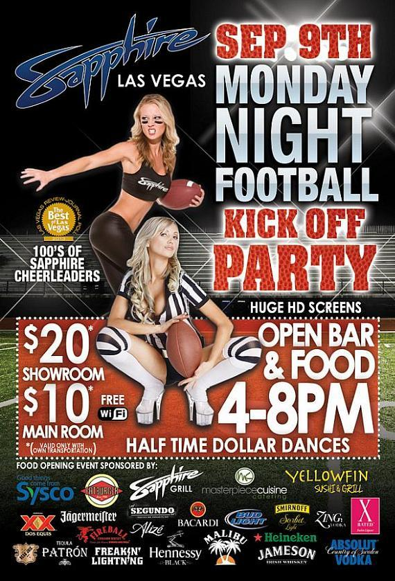 Monday Night Football Party at Sapphire
