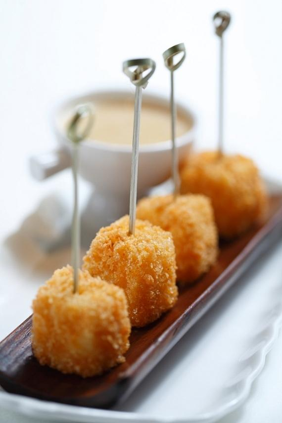 """""""Lollipop"""" Chicken Wings with a blue cheese dipping sauce"""