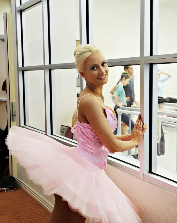 Holly Madison watches Nevada Ballet Theatre rehearsal