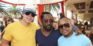 Max Vangeli, Will.i.am and apl.de.ap at Encore Beach Club