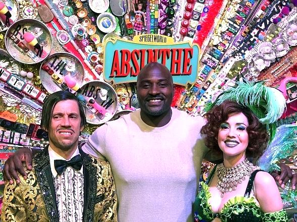 Marcellus Wiley Attends ABSINTHE at Caesars Palace Las Vegas