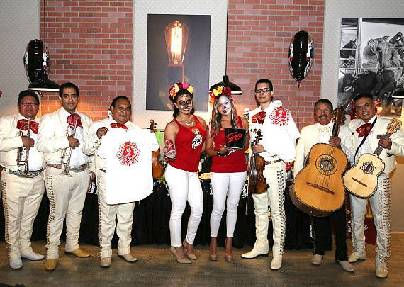 Mariachi Vegas International with Cerveza Victoria girls at The Wrangler Grill Grand Opening