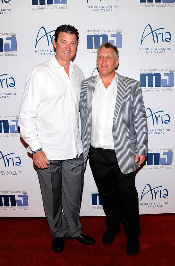 Mario Lemieux and Brett Hull (at last year's MJCI celebration)
