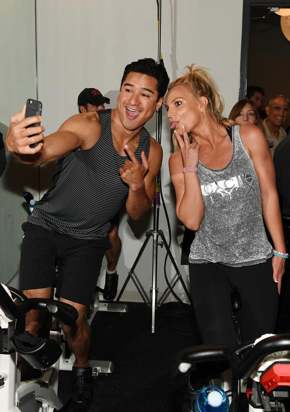 Mario Lopez and Britney Spears selfie