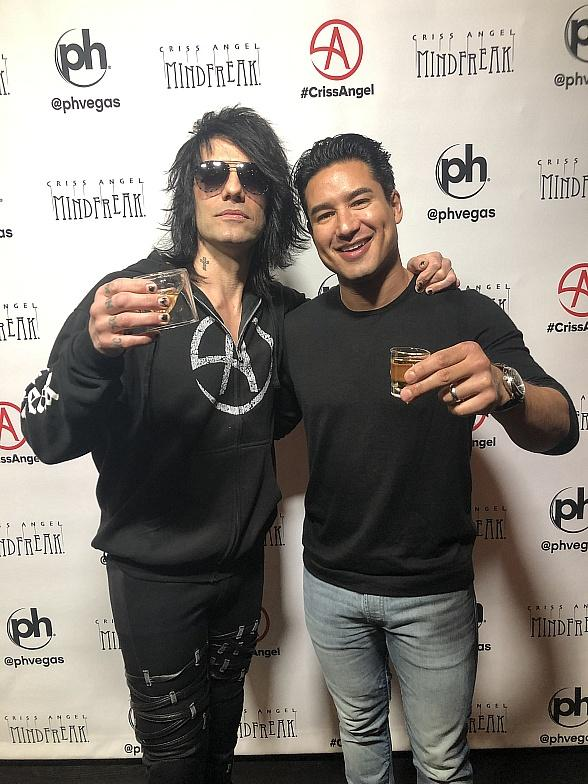 Mario Lopez Catches Criss Angel's Brand-New Show, MINDFREAK at Planet Hollywood Las Vegas