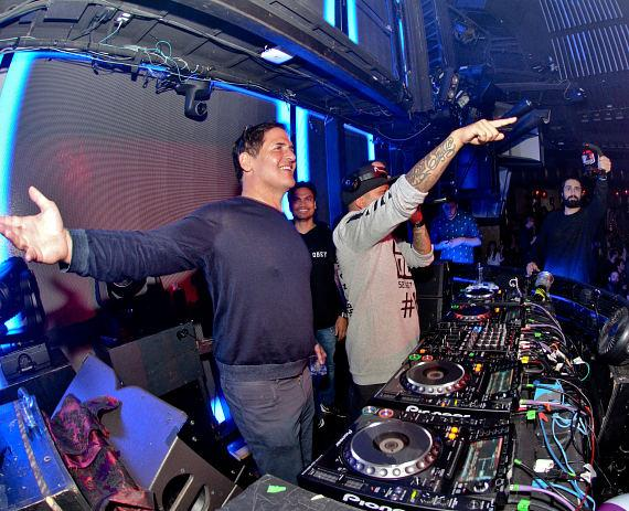 Dallas Mavericks' Owner Mark Cuban at Marquee Nightclub in Cosmopolitan of Las Vegas