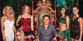 Mark Feuerstein with The Gazillionaire, Penny Pibbets and the ladies of ABSINTHE