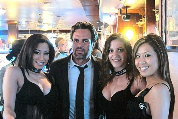 Mark Ruffalo poses with Golden Gate's Dancing Dealers