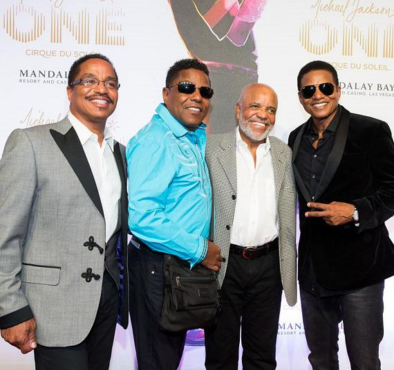 Marlon, Tito, Berry Gordy and Jackie